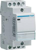 Контактор стандарт Hager ESC425-25A, 4НВ, 230В, 2м