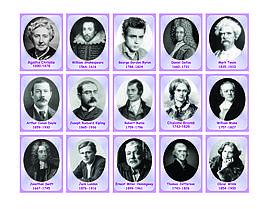 Набор портретов английских писателей и поэтов. Картон