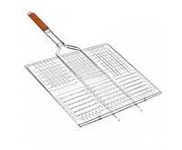 Решетка-гриль плоская с ручкой Средняя