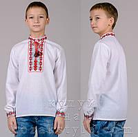 Вишиванка для хлопчика (з червоно-чорною вишивкою), фото 1