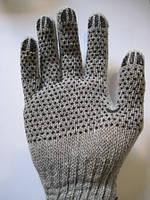 Перчатки рабочие с ПВХ точкой серые