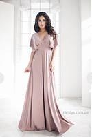 Платье с декольте и открытой спиной