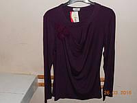 Блуза баклажан с розочками
