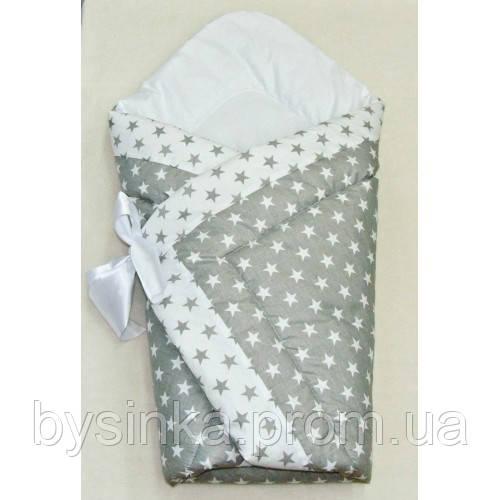 Демисезонный конверт одеяло на выписку 90*90 см