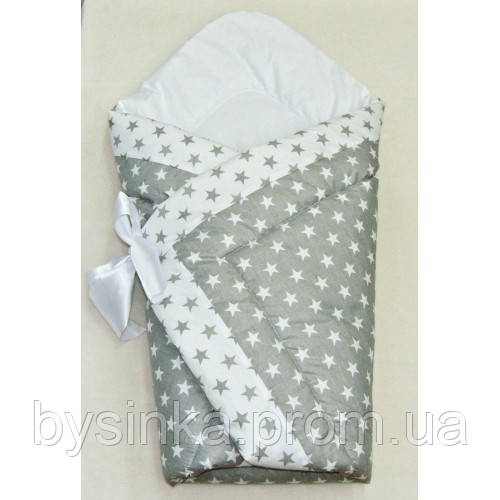 Конверт на выписку весеннее-осеннее-зимне одеяло детское 90х90см. легкое не аллергенное весна осень- Звездочки