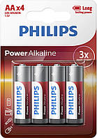 Батарейки Philips Power Alkaline (щелочные) LR06/АА BL4