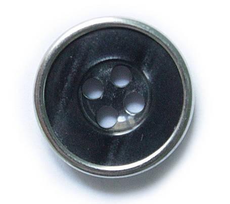 Пуговица универсал 24/400 шт с мет ободком, фото 2