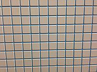 Мозаика белая с голубым швом