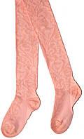 Колготы для девочки нарядные, персиковые, рост 98-104 см, Дюна