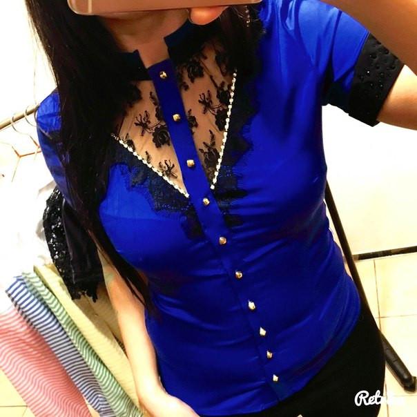 Блуза с гипюром и кружевом