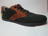 Туфли мужские спортивного стиля замш+джинс
