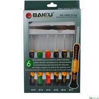 """Набор инструментов  BAKKU  BK6000-A  Отвёртки: T2,T4,T5,T6, """"мерс""""2.0, крест1.7, Пинцеты:прямой,изогнуты"""