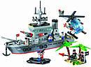 Конструктор BRICK 820 Военный корабль 614 деталей, фото 2