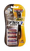 Одноразовая 3 лезвийная бритва BIC-3 Flex Easy (+ 4 сменных картриджа) - 1 шт.