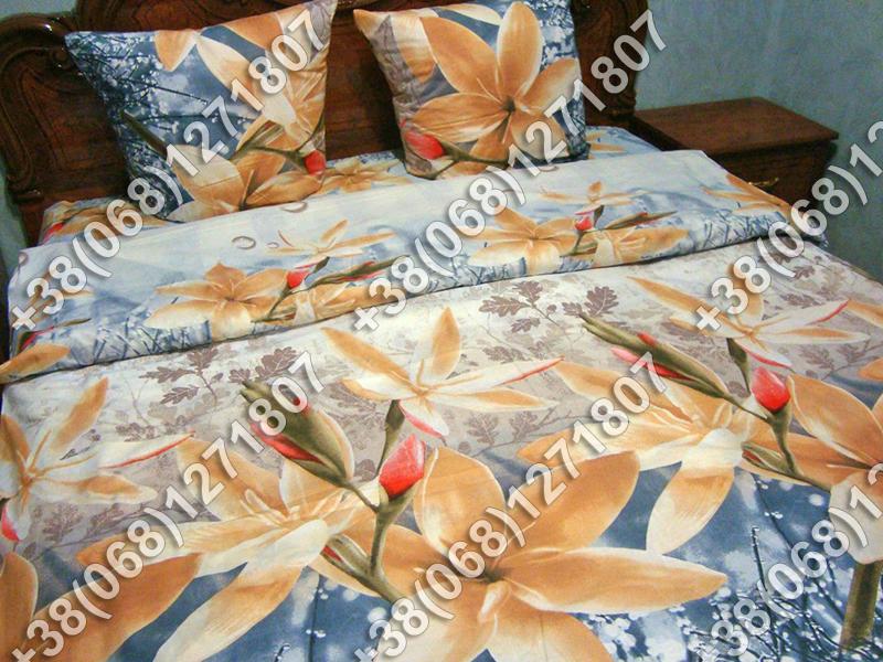 Постельное белье ранфорс - евро комплект (0724)