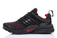 Мужские кроссовки Nike Air Presto Flyknit Weaving black-red