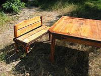 Славянский стиль стол и лавка