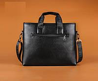 Мужская кожаная горизонтальная сумка-порфель. Модель 04268, фото 3
