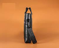 Мужская кожаная горизонтальная сумка-порфель. Модель 04268, фото 5