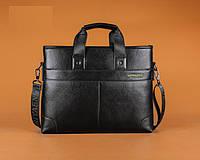 Мужская кожаная горизонтальная сумка-порфель. Модель 04268, фото 4