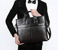 Мужская кожаная горизонтальная сумка-порфель. Модель 04268, фото 7