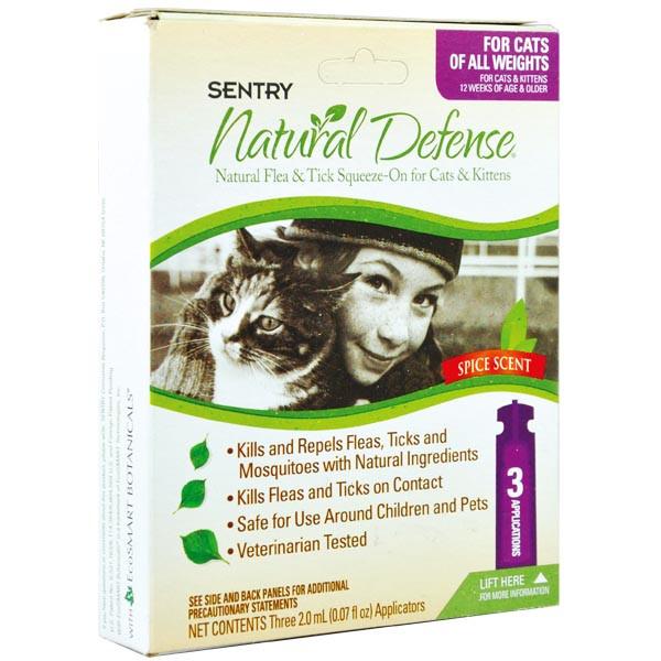 SENTRY Natural Defense СЕНТРИ НАТУРАЛЬНАЯ ЗАЩИТА капли от блох и клещей для кошек всех пород