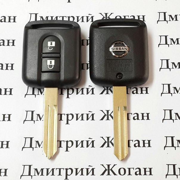 Оригинальный ключ для Nissan (Ниссан) 2 кнопки 433 Mhz с чипом ID 46