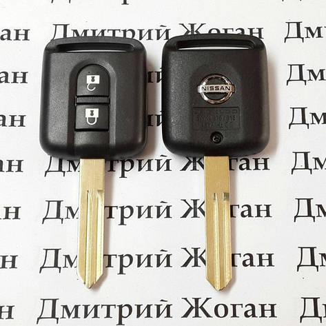 Оригинальный ключ для Nissan (Ниссан) 2 кнопки 433 Mhz с чипом ID 46, фото 2