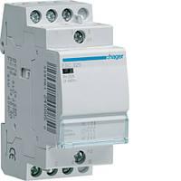 Контактор стандарт Hager ESL426-25A, 4НЗ, 12В, 2м