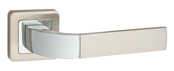 Punto / Дверные ручки PUNTO ORION QR SN/CP-3 матовый никель/хром