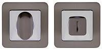 Накладка WC-фиксатор PUNTO BK6 QR GR/CP-23 графит/хром, фото 1