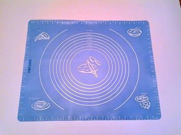 Силиконовый коврик с разметкой 50×40