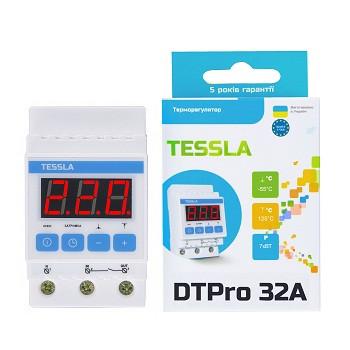 Терморегулятор TESSLA DTPro на DIN-рейку для систем обогрева/охлаждения/вентиляции