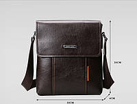 Мужская кожаная сумка. Модель 04269, фото 4