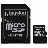 Карта памяти Kingston 16GB microSDHC Class 10 UHS-I (SDC10G2/16GB)