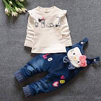 УЦЕНКА! Комплект одежды для девочек Kitty, 4Т