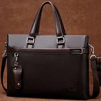 Мужская кожаная сумка-портфель. Модель 04270, фото 2