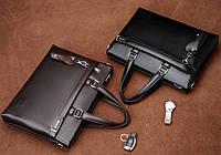 Мужская кожаная сумка-портфель. Модель 04270, фото 8
