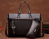 Мужская кожаная сумка-портфель. Модель 04270, фото 5