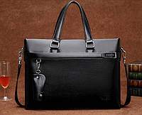 Мужская кожаная сумка-портфель. Модель 04270, фото 6