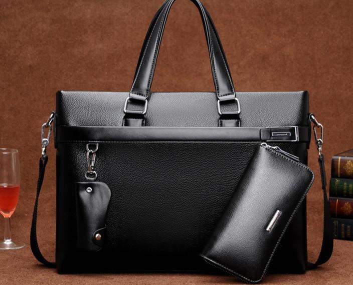 Мужская кожаная сумка-портфель. Модель 04270