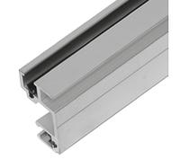 """Профиль 6102 двойной алюминиевый крепления 19"""" оборудования под гайку 6110/1, фото 1"""