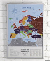 Скретч карта Европы Travel Map Silver