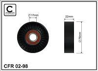 Ролик натяжной ремня приводного OPEL 1,6/1,4 OPEL ASTRA,-OPEL ZAFIRA-A/,OPEL VECTRA-C/
