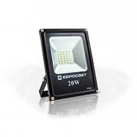 Светодиодный прожектор EVRO LIGHT ES-20-01, 20W, 220V, IP65, Econom, 1100Lm, 6400K белый холодный, фото 1
