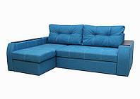 """Угловой диван """"Барон"""" «Savana Aquamarine 17″ (открывной подлокотник)"""