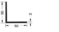 Профиль 0690 уголок алюминиевый 50*50мм толщина полки 3мм