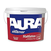 Матовая белая моющаяся краска для потолков и стен Aura Mattlatex 10л