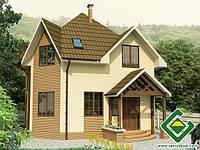 Строительство дома из сип панелей 104,57 м.кв., «КЕНТАВР»