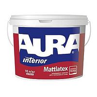 Матовая белая моющаяся краска для потолков и стен Aura Mattlatex 5л